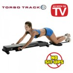 A women exercising on a Torso Track