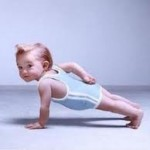Cute Baby Doing Plank
