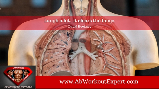 Increased efficiency of lungs is a physiological benefit of exercise, view of open lungs